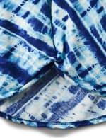 Bias Tie Dye Knot Front Knit Top - Misses - 4