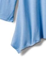 Texture Shark Bite Hem Knit Tunic - Misses - 3