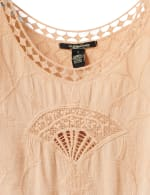 Embroidered Crochet Trim Blouse - 7