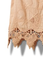 Embroidered Crochet Trim Blouse - 8