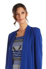 3/4 Sleeve Stripe Dress with Jacket - 3