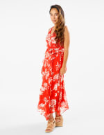 Spring Floral  Chiffon Dress - 4