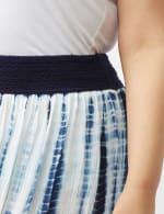Rayon Gauze Pull On Skirt with Decorative Waistband - Plus - 4