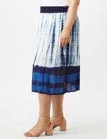 Rayon Gauze Pull On Skirt with Decorative Waistband - Plus - 3