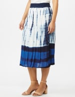 Rayon Gauze Skirt with Decorative Waistband - 3