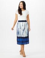 Rayon Gauze Skirt with Decorative Waistband - 5