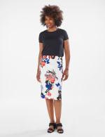 Printed scuba crepe skirt - 5