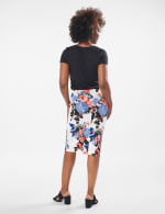 Printed scuba crepe skirt - 6