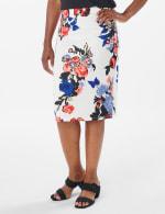 Printed scuba crepe skirt - 7