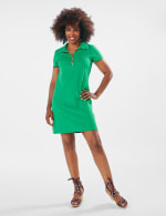 Marina Polo Collar Zip Dress - 9