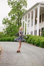 Ellian Ruffled Long Sleeved Dress in Sky - 4