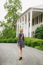 Ellian Ruffled Long Sleeved Dress in Sky - 5