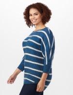 Westport Stripe Curved Hem Sweater - Plus - 4