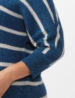 Westport Stripe Curved Hem Sweater - Plus - 5