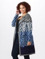 Roz & Ali Ombre Animal Duster Sweater - Plus - 4