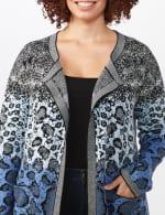 Roz & Ali Ombre Animal Duster Sweater - Plus - 5