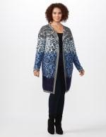 Roz & Ali Ombre Animal Duster Sweater - Plus - 6