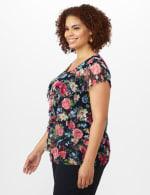 Floral Mesh Tier Knit Top - Plus - 4