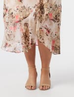 Plus Faux wrap hi low pull on skirt - 5