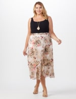 Plus Faux wrap hi low pull on skirt - 6