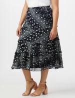 Bias Cut 4 Tiered Elastic Waist Pull On Skirt - 4