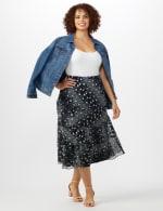 Bias Cut 4 Tiered Elastic Waist Pull On Skirt - 6