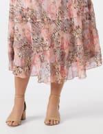 4 Tiered Elastic Waistband Skirt - 5