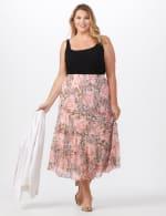 4 Tiered Elastic Waistband Skirt - 6