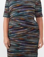 Teal Tiered Bandage Dress - Plus - 4