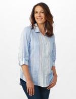 Denim Friendly Yarn Dye Stripe Shirt - Misses - 6