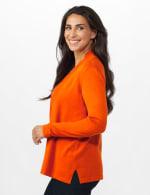 Roz & Ali Long Sleeve Scallop Trim Cardigan - Misses - 3