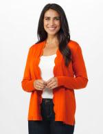 Roz & Ali Long Sleeve Scallop Trim Cardigan - Misses - 5