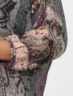 Roz & Ali Floral Bubble Hem Lurex Blouse - 5