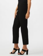 Superstretch Ankle Pants with Button Detail at the Hem - 9