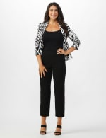 Superstretch Ankle Pants with Button Detail at the Hem - 12