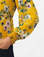 Ruffle V-neck Floral Blouse - 5