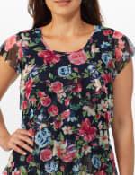 Westport Floral Tier Knit Top - 5