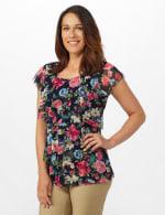 Westport Floral Tier Knit Top - 6