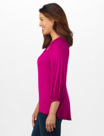3/4 Sleeve Twist Cut Out Neck Top - Misses - 10