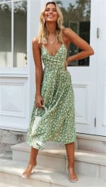 Spaghetti Strap Slip-on Dress - Misses - 3