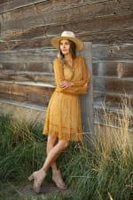 Lace Short  Peasant Dress - 3
