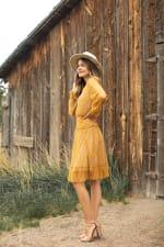 Lace Short  Peasant Dress - 5