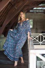Off-Shoulder Floral Peasant Dress - 3