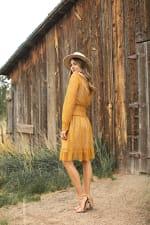 Lace Short  Peasant Dress - 6