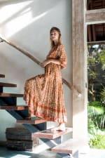 Amber Peasant Maxi Dress - 3