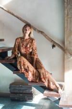 Amber Peasant Maxi Dress - 4