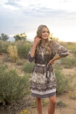 Ombre Mixed Animal Dress - 3