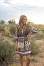 Ombre Mixed Animal Dress - 4