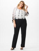Plus Roz & Ali  Plus Secret Agent Trouser  Pants with Cat Eye Pockets & Zip - 4