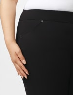 Roz & Ali Plus Secret Agent Tummy Control Pants Cateye Rivets - Average Length - Plus - Black - Detail
